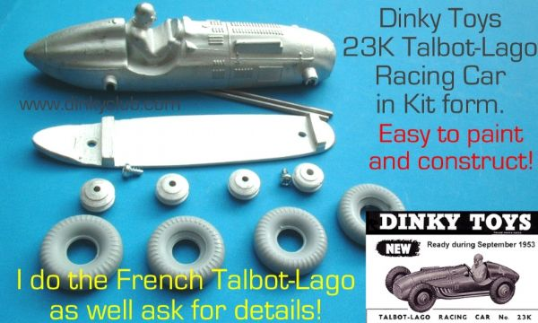 Dinky Toys copy model 23K Talbot-Lago in kit form